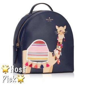 🆕Kate Spade Spice Camel Blue Sammi Backpack Bag